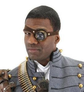 Steampunk man with monocle