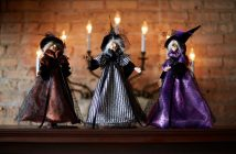 Three Witches Halloween Decor