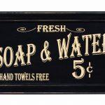 Vintage Bath Advertising Frame