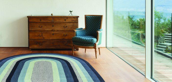 EarthRugs blue lakehouse rug