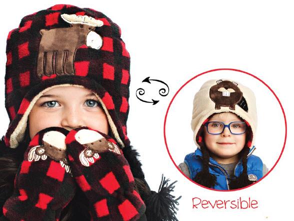 Flapjack Kids Reversible Winter Hat