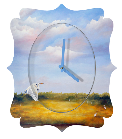 Come Fly With Me Quatrefoil Clock