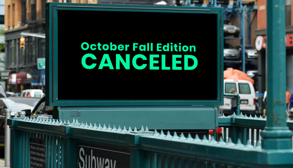 NY NOW® Cancels October Fall Edition