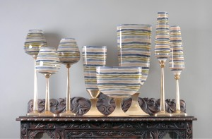 Rojo16 America Corp_Aluminum & Glass Vase Candle Holder