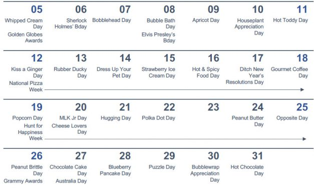 Social Media Calendar for Gift Shops by Flora Delaney
