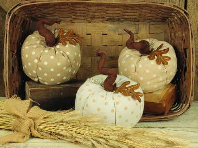 Fabric Fall Pumpkins