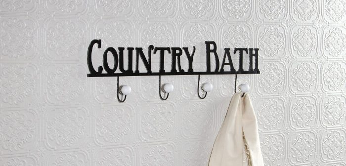country bath towel holder