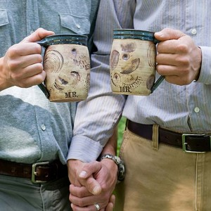 JULIA e. DEAN pottery mugs