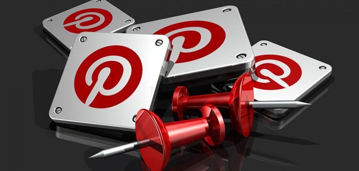 Pinterest logo and push pins