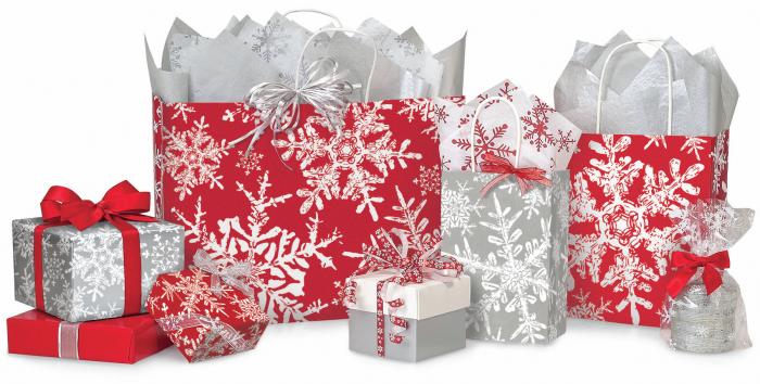Snowflake winter packaging